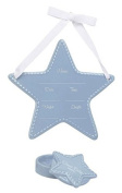 C.R. Gibson Stepping Stones Ceramic Keepsake Gift Set, Blue Star