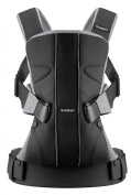 BABYBJORN Baby Carrier One, Cotton/Black/Silver