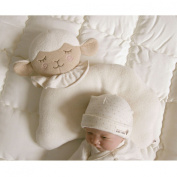 Organic Cotton Baby Protective Pillow (Cloud Lamb) Sleeping Pillow.From Newborn Prevent from flat head.Machine washable