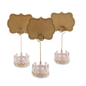 Kate Aspen Little Princess Crown Place Card Holders, Pink