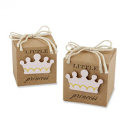 Kate Aspen Little Princess Kraft Favour Box, Brown/Pink