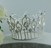 Queen Tiara - Wedding Bridal Prom Birthday Pageant Headpiece Full Circle Drop Crown
