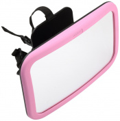 Venture Baby Back Seat Mirror Pink - The Best Super View Wide Angled Convex Safety Mirror With Shatterproof Design + 360° Swivel & Tilt Function, - Backed with 100% Guarantee