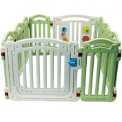Kiddygem M7 extra tall baby playpen (10 panels) - Green