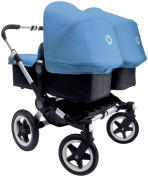 Bugaboo Donkey Complete Twin Stroller - Ice Blue - Aluminium