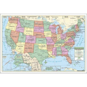 USA Map, Laminated