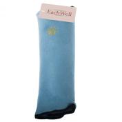 EachWell Children Baby Kids Travel Pillow Soft Headrest Neck Support Pillow Sleeping Shoulder Pad for Car Seatbelt Blue