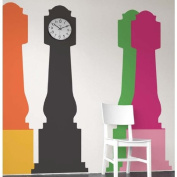 Blik Grandfather Clock Wall Stickers - tangerine/sunflower