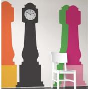 Blik Grandfather Clock Wall Stickers - tangerine/sunflower