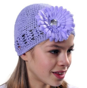Style Nuvo Baby Toddler Girl Kufi Crocheted Beanie, Hat With Beautiful Flower Boutique Item!