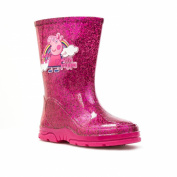 Peppa Pig Girls Pink Glittery Wellington Boot