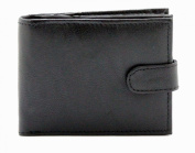 Mens Luxury Soft Leather Wallet With Secure Zip Coin Pocket & ID Window Black - Brown - Tan