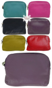 Small Soft Leather Credit Card Holder and Coin Zip Purse