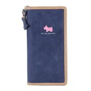 Damara Girls Lovely Dog Printing Wallet Soft Faux Leather Card Holder Bag