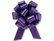 Purple Flora Satin 14cm Pull String Bows - 20 Loops 25/pkg