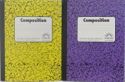 Double Pack 100 Sheet / 200 Page Composition Books - Bundle of Two Norcom Composition Books Wide Ruled