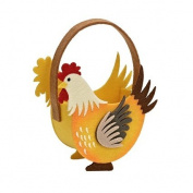 Veka Baby Products-Yellow Rooster Felt Basket