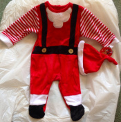 new santa claus father christmas baby grow with hat 2 piece set