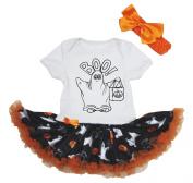 Halloween Dress Boo Ghost Cotton Bodysuit Pumpkin Tutu Baby Jumpsuit Nb-18m