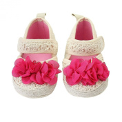 Red Flower Decor Crib Shoes Anti-slip Soft Sole Baby Toddler Infant Size 13