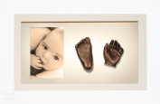BabyRice 3D Baby Casting Kit Bronze Paint with White Display Photo Frame