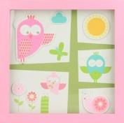 Trä Present Children's Room Garden Picture 26 x 26 cm Pink