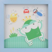 Tra Present Pond Picture 26 x 26 cm for Children's Rooms Blue