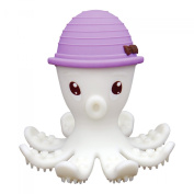 Mombelle® FDA-Certified Soft Silicone Gum Brush BPA Free Baby Teether Toy - Octopus Doo, 3M+, 4 Colours