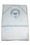 New Blue Gorgeous Prince hooded bath towel for Baby Boy by Soft Touch