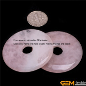GEM-inside 40mm Hole 7/8mm Circle Gemstone Beads For DIY Necklace 1 Pcs