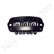 x 100 Hair Extension Snap Clips for Wig Weft 23mm / 2.3cm Black