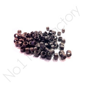1,000 4mm Brown Micro Screw Rings Hair Extension New