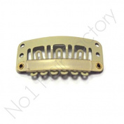 x 30 Hair Extension Snap Clips for Wig Weft 28mm / 2.8cm Beige