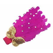 Gleader Pack of 2 Lovely Cotton Girls Baby Headbands,Feather,purple