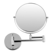 Chrome round 20cm wall mirror vanity mirror cosmetic mirror double-sided 7X magnifying mirror