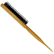Professional Hairdresser's Wooden Teasing Brush - Ideal for Wigs, Updos & Hair Extensions
