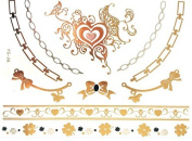 GOLDEN Tattoo, Flash Tattoos, One time Tattoos, Tribal, GOLD chain, Arm chains, Trendy jewellery, YS-28