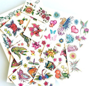 Temporary Tattoos Glitter 4 Girls 50 Temporary flash Once tattoos for Girls