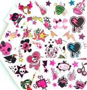 Temporary Tattoos Pretty'n Punk 50 Temporary sweet Once tattoos for girls