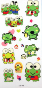 Childen love waterproof realistic temporary tattoo sticker colour animation cartoon frog happy family