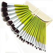 YINGMAN 23 Pcs Bamboo Makeup Brush Set Pro Make up Cosmetic Brushes Kit Luxurious Case