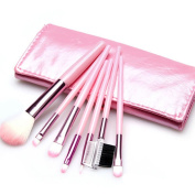 YINGMAN Pro 7pcs Cute Pink Makeup Brushes Tool Soft Cosmetics Powder Eyeshadow Set