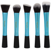 YINGMAN 5 Pcs Powder Blush Foundation Contour Makeup Brushes Set Cosmetic Tool