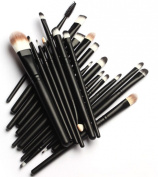 YINGMAN 20 Pcs Pro Makeup Set Powder Foundation Eyeshadow Eyeliner Lip Cosmetic Brushes