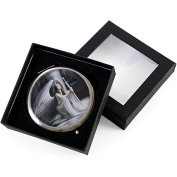 White Angel Holding a Sword Compact Mirror