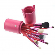 YINGMAN Professional Makeup Brush Sets Cosmetic Brush Kit Makeup Tool with Cup Leather Holder Case