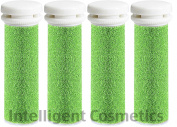 4 x Extreme Coarse Green Micro Mineral Replacement Rollers Compatible With Emjoi Micro Pedi