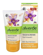 Alverde Bach-Flower Day Confidence Face-Cream with Organic Ingredients - For Normal to Dry Skin - Certified Natural Cosmetic / Not Tested on Animals / Vegan - 50ml