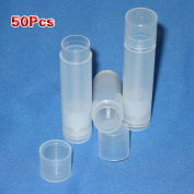 Gleader 50 Lip Balm Tubes with Caps (Natural/Clear) NEW