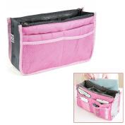 Gleader Pink WOMENS HANDBAG PURSE TRAVEL ORGANISER LARGE BAG LINER LADIES PRESENT GIFT